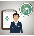 doctor stethoscope specialist history clinic vector image