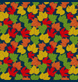 falling autumn leaves seamless pattern background vector image vector image