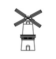 farm windmill symbol vector image