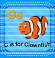 flashcard letter c is for clownfish vector image vector image