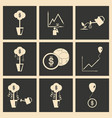 flat in black and white concept economic icon vector image vector image
