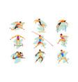 flat set professional athletes in vector image vector image