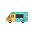 food truck or van for fas delivery street food vector image vector image
