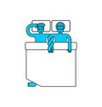 gays in bed two guys are hugging in sleep lgbt vector image vector image