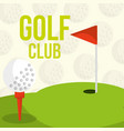 golf club course flag balls background vector image vector image