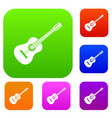guitar set collection vector image vector image