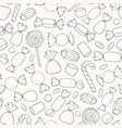 hand drawn candies and marshmallows pattern vector image vector image