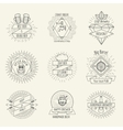 Hipster style handmade beer and craft brewery logo vector image vector image