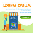 internet store flat landing page template vector image
