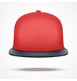 Layout of red rap cap vector image