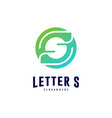 letter s logo icon design concepts initial s logo vector image