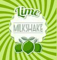 lime milkshake label vector image vector image