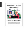 medical insurance template - medical case manager vector image vector image