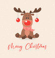 merry christmas postcard christmas cute vector image