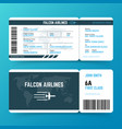 modern airline travel boarding pass ticket vector image