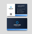 modern and minimalist business card vector image vector image