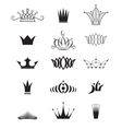 Modern crowns vector image vector image