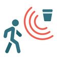 motion detector flat icon security and guard vector image