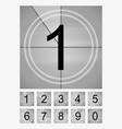 movie countdown frames set old film cinema timer vector image vector image