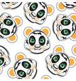 mug of the panda pattern vector image vector image