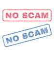 no scam textile stamps vector image vector image