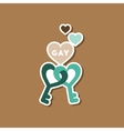 paper sticker on stylish background of gays keys vector image