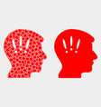 pixelated and flat headache icon vector image vector image