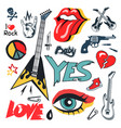 rock and punk culture set vector image vector image