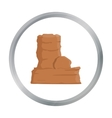 Rock icon cartoon Singe western icon from the vector image