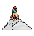 rocket launcher isolated icon vector image vector image