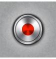 round metal record knob vector image vector image