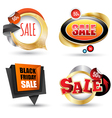 Sale banner set Can use element vector image