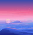 Sea Sunset Landscape vector image vector image