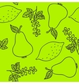 Seamless pattern of currant pear lime and lemons vector image vector image