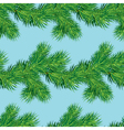 Seamless pattern with Christmas fir tree vector image vector image