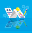 search engine optimization with template vector image vector image