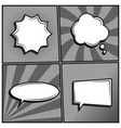 set of empty template comic text speech bubbles vector image vector image