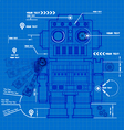 Sketch robot blueprint vector image