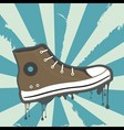 sneakers grunge background vector image