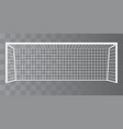 soccer goalpost football goal on a transparent vector image vector image
