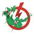 stop parasites cartoon vector image vector image