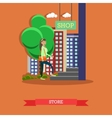 Street traffic concept flat vector image