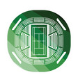 tennis stadium aerial view icon vector image