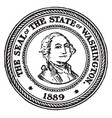 the seal of the state of washington 1889 vintage vector image vector image