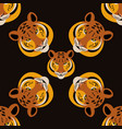 tiger head black background rotate 45 degrees vector image