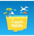 Time to travel summer vacation flat vector image vector image
