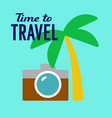 tourist travel vector image