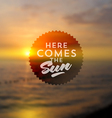 Type design against a sea summer sunset vector image vector image