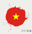 vietnam watercolor national country flag icon vector image vector image