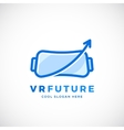 Virtual Reality Future Abstract Sign vector image vector image